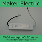 FS-60-12 12 volt single output ac dc 60w waterproof ip67 led 12v 5a switching power supply