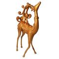 de oro de navidad renos para decoración de interior