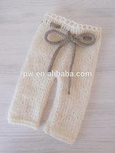 Handmade crochet baby pants Newborn Knit Baby pants Luxury mohair pants Newborn photo props
