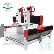 Nc - M1224 de doble cabeza lápida y lápida / de la piedra preciosa máquina del ranurador del CNC