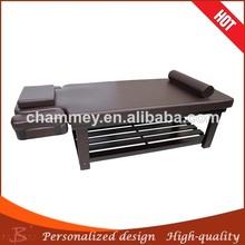 Wood facial bed rectangle alloy leg facial bed table