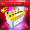 cheapest 12V car batteries wholesale with 75AH DIN 75 for african market