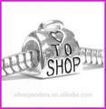 925 prata esterlina love shop coração talão para troll biagi chamilia pandora encanto contas para fazer pulseira