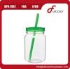 Single Wall mason jar Tumbler with lid and straw