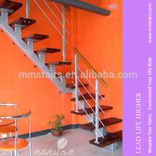 Customized Steel & Wood Modern Loft Stairway