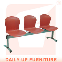 Stylish 3-Beam Chair Medical Waiting Room Chairs Solid Public Airport Chair