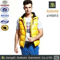 2015 new fashion customized outdoor men's down vest,winter vest