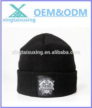 100% acrylic custom knitted man hat