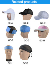2014 Hot Sale Pva Solar Powered Cooling Hat sport cooling towel Hat