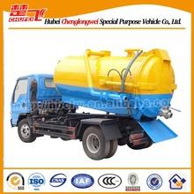 4000 litros em aço inox de caminhão-tanque, fossa vazia, esgoto a vácuo de sucção do caminhão para a venda