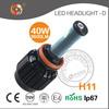Newest design H11 high power 40W led car headlight kit