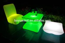Em forma de l sofá levou, led iluminado sofá com mudança de cor