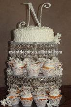 3 tiered acrylic crystal wedding cake stand for weddings