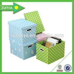 Custom foldable storage box & makeup storage box & paper storage box
