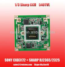 520TVL 1/3 sharp ccd sensor CCTV security camera module 3142+2365