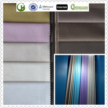 3 pass blackout curtain fabric for hotel use and project use with waterproof and fire retardant China Supplier