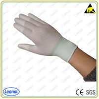 LN-8005F PU top fit esd nylon glove