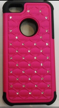 Factory price-shockproof rhinestone bling diamond case backcover phone case for iphone5