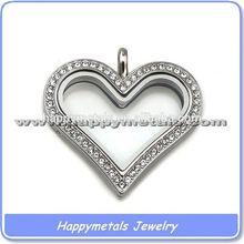 Top selling heart pendant key chain,316l stainless steel heart pendants