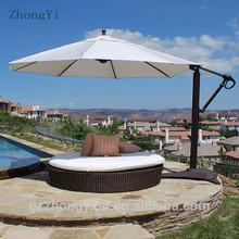 Rainproof white folding Outdoor Furniture General Use cantilever umbrella