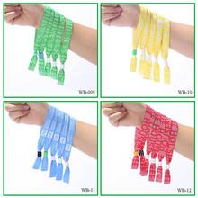 Festival party custom polyester wristband /woven wristband /heat transfer printed wristband
