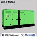 القوة المغناطيسية generator175kva النوع الصامت الكمون مولدات كهربية مع ستامفورد 50hz مياه التبريد