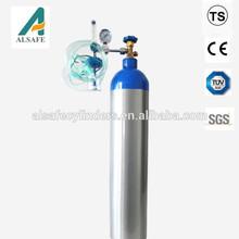 CE approved DOT M series M90 aluminum ambulance medical oxygen cylinder