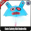 moda barata de alta calidad pequeño encargo animales de impresión en forma de seguridad al por mayor lindo paraguas del niño