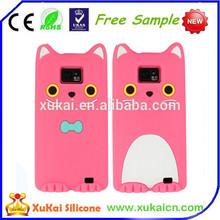 Cute cartoon design silicone mobile phone case for 5c