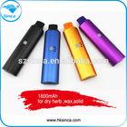 Best selling in USA for wax ,dry herb vapor starter kits,solid 1600mAh batttery huge vape wax vaporizer pen