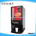 sapoe 2 nescafe sabores de té y café de la máquina en el camino