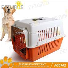 Selected material 3 doors folding dog crate cage w/metal pan