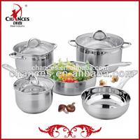 8Pcs Cookware Set 18 10 Stainless Steel Pot Set