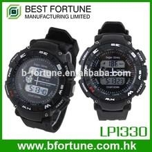 LP1330 PU Strap LCD Display Multifunction Digital watches hong kong