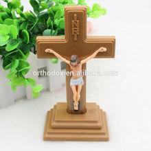 Plastic Decoration Standing Catholic Crucifix Cross