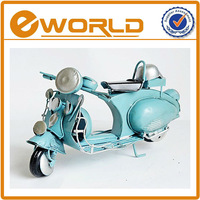 craft gifts mini motorcycle models blue color for coffee decoration