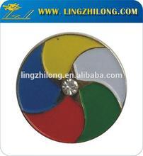 Metal Bronze Round Colorful Badge Masonic Jewels