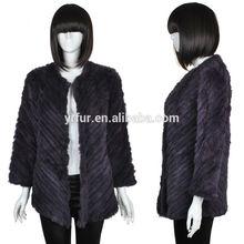 Vera qualità inverno cappotto/reale. coniglio cappotto di pelliccia lavorato a maglia/top qualità vendono