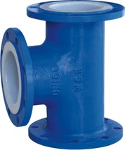PTFE Lined Equally Tee For Chemical
