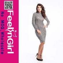 wholesale usa sexy leopard hot women bandage dresses 2014