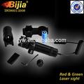 Verde visão laser dot scope rifle de caça e rail mount & box set w / 2 interruptores