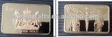 2015 Hot sales replica 1 OZ Royal Lion and Unicorn Gold Bar