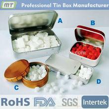 fashional design food safe metal pill tin box package series