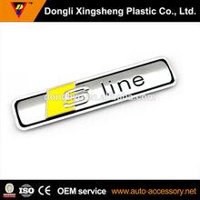 Sline custom chrome car emblem and name