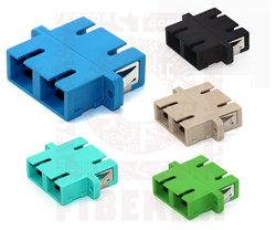 SM MM Duplex SC flange fiber optical adapters