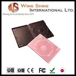good quality 14mm clear single pp dvd case