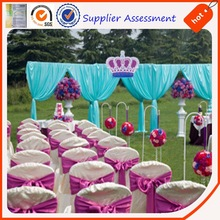 Polyester wedding decoration satin/colorful party decorate satin