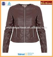 custom lady leather jacket
