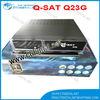 Qsat Q23g satellite receiver q-sat q23g hd decoder qsat q23g q-sat 23 qsat q23 mpeg4 hd dstv gprs decoder with 1 year dstv
