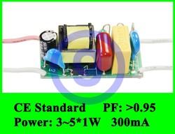CE EMC High PF Constant Current LED Power Driver 5W 300mA 5x1W 4W 4x1W